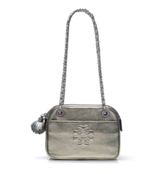 Thea Metallic Crossbody Chain Bag