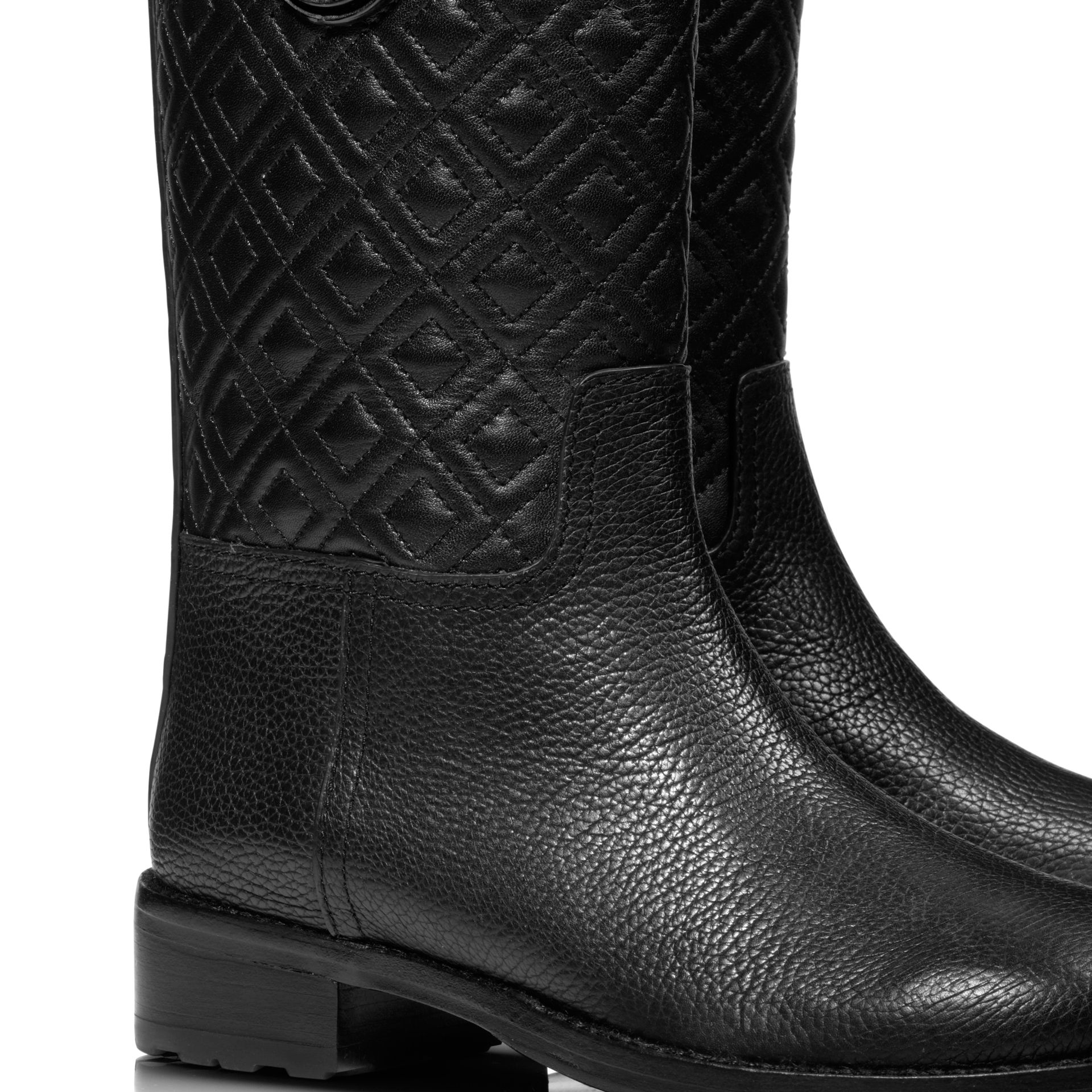 MARION QUILTED BOOTIE - BLACK