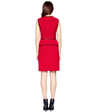 Cherry Wine/ Coconut Tory Burch Violet Dress