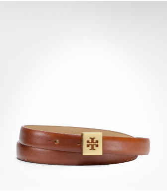 Tory Burch Charlie Feather Edge Belt