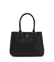 Black Tory Burch Robinson Small Tote