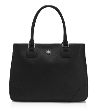 Black Tory Burch Robinson Tote