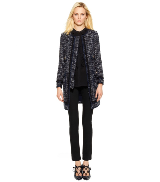 ANNABELLE SPARKLE FRINGE TWEED COAT
