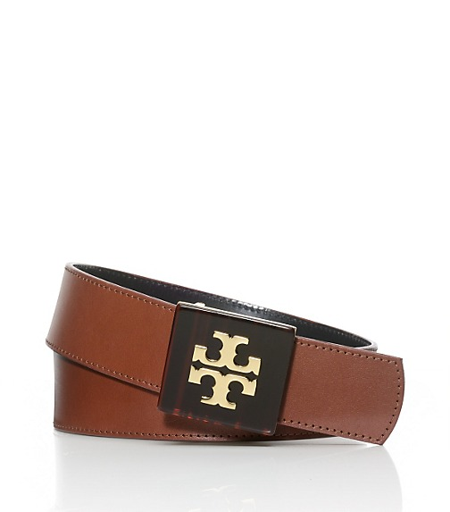 Resin Logo Plaque Skinny Belt
