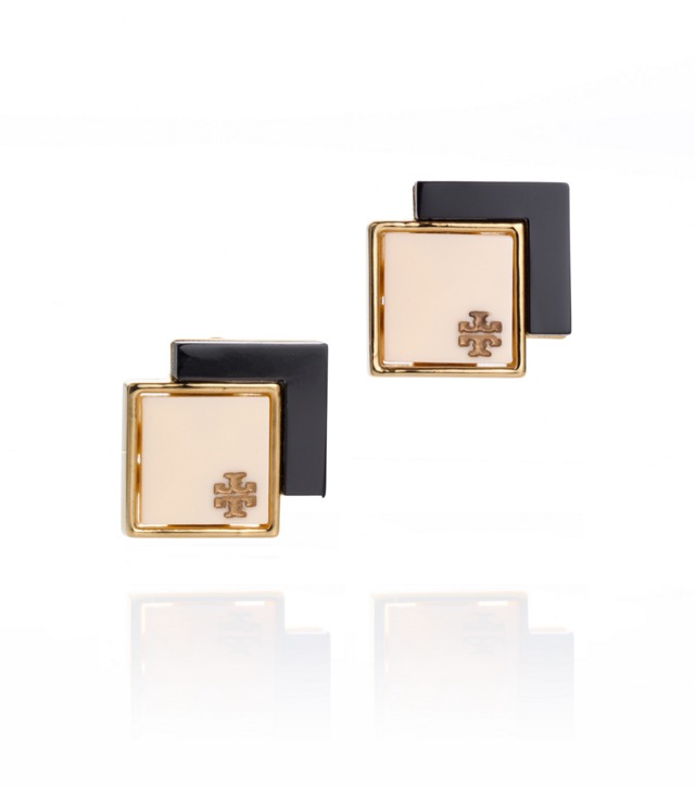 TOMI DOUBLE SQUARE POST EARRING