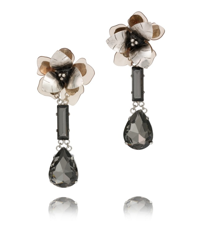 FLORAL TEAR DROP EARRING