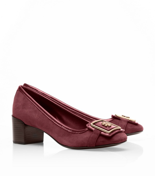 Suede Julian Low Heel Pump