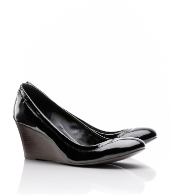 Tory Burch Patent Leather Eddie Wedge