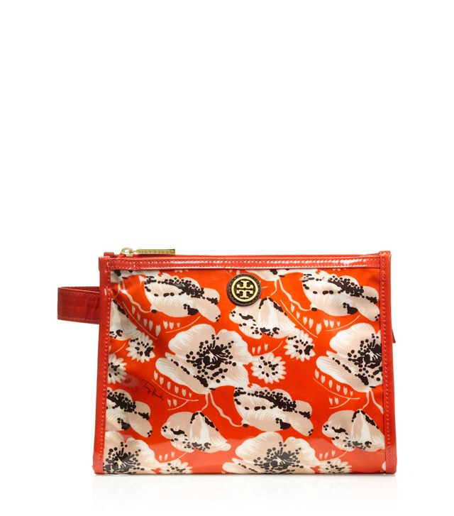 Printed Coated Poplin Large Makeup Case