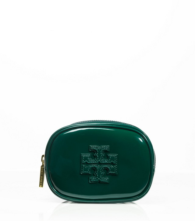 Patent Bombe Small Cosmetic Case