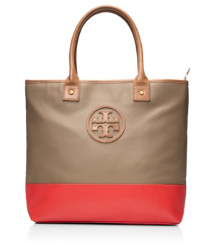 JADEN TOTE | CLAY BEIGE/ CANDY APPLE | 274