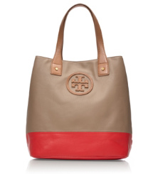 MICHELLE TOTE- | CLAY BEIGE/ CANDY APPLE | 274