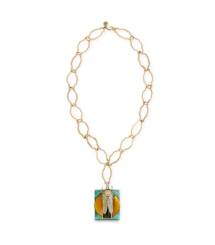 Tory Burch Greer Scarab Pendant Necklace