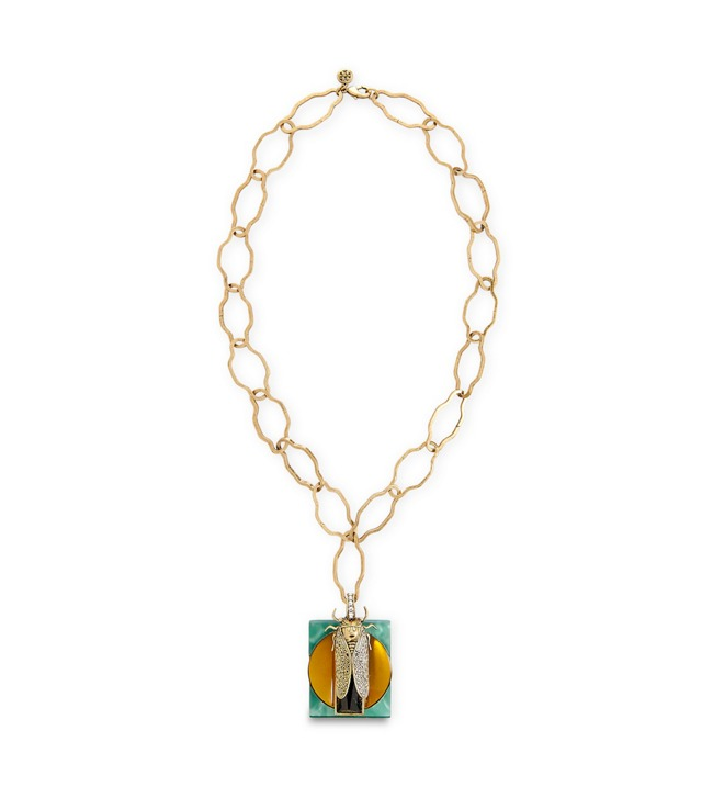 GREER SCARAB PENDANT NECKLACE