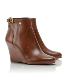 Almond Tory Burch Milan Wedge Bootie