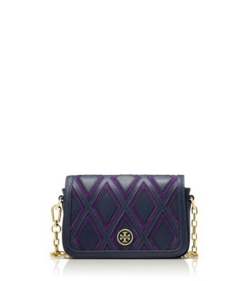 Tory Burch Robinson Patchwork Chain Mini Bag