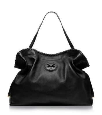 Black Tory Burch Marion Slouchy Tote