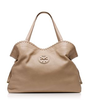 Clay Beige Tory Burch Marion Slouchy Tote