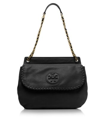 Black Tory Burch Marion Saddle Bag