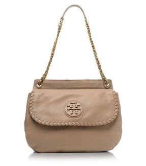 Clay Beige Tory Burch Marion Saddle Bag