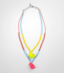 DOUBLE RUBBER KNOT NECKLACE