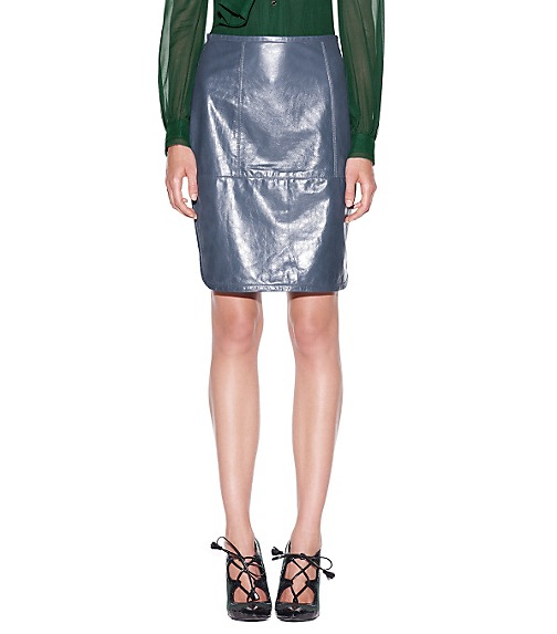 IMOGENE LEATHER SKIRT