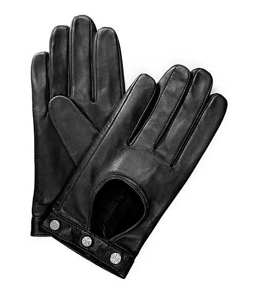 Logo Studded Driving Gloves