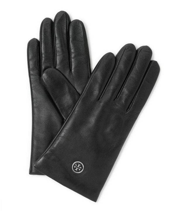 Tech Logo Leather Glove