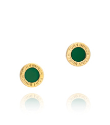 COLE ENAMEL STUD EARRING | MALACHITE | 301