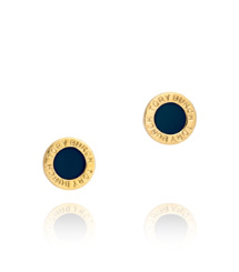COLE ENAMEL STUD EARRING | PERSIAN BLUE | 440