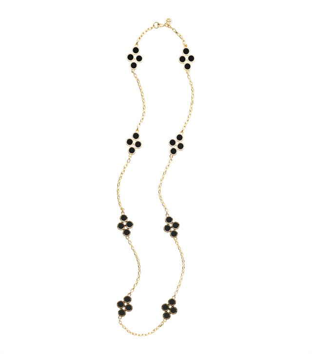 COLE ENAMEL CLOVER ROSARY NECKLACE