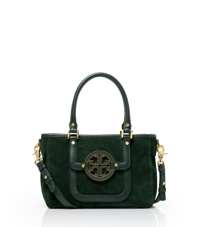Suede and Leather Amanda Mini Satchel
