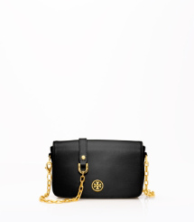 Black- Tory Burch Robinson Mini Bag