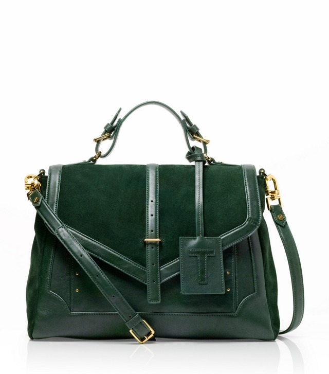 Suede and Leather Large 797 Satchel