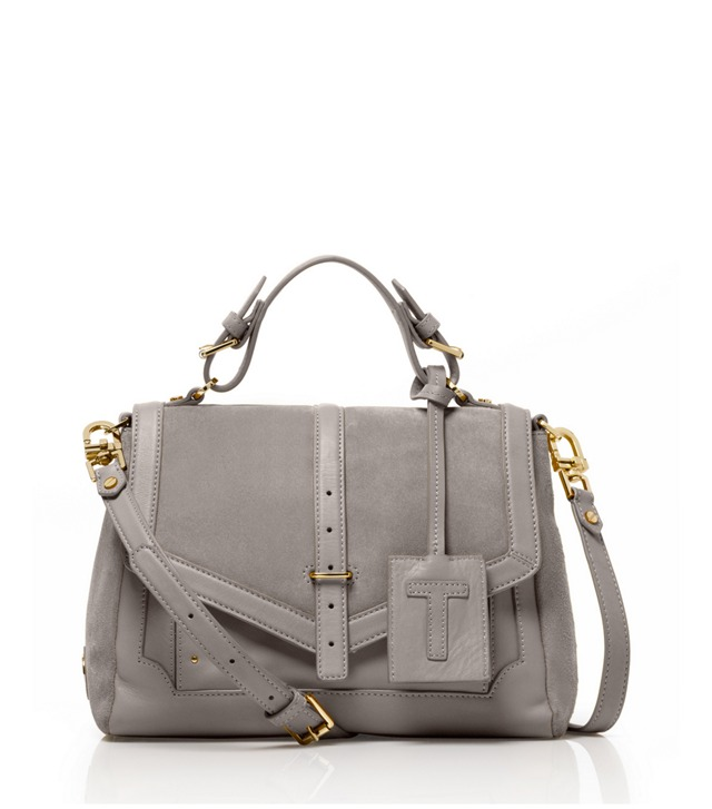 Suede and Leather Medium 797 Satchel