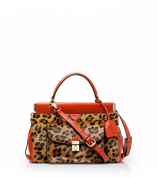 Priscilla Haircalf Small Frame Satchel
