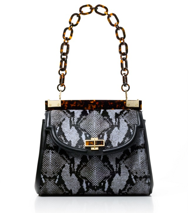 Haircalf Snake Medium Resin Top Bag