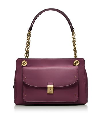 Dark Plum Tory Burch Priscilla Shoulder Bag