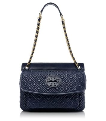 Normandy Blue Tory Burch Marion Quilted Small Shoulder Bag