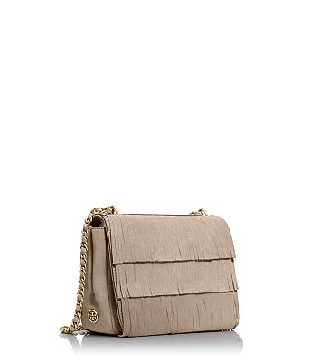 FRINGE ADJUSTABLE SHOULDER BAG - COCCO