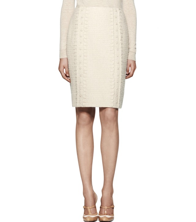 KELSEY SPARKLE BOUCLÉ  TWEED SKIRT
