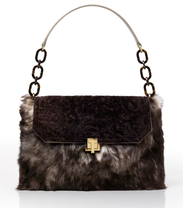 Grace Mixed Shearling Satchel