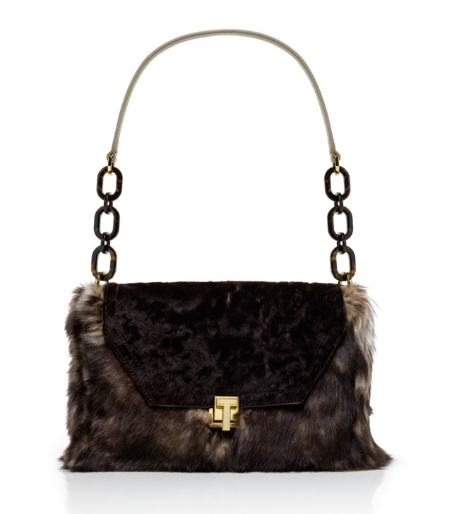 Grace Mixed Shearling Shoulder Bag