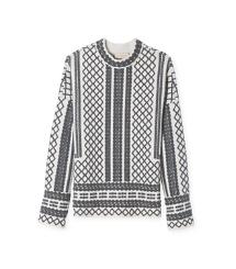 $237 Tory Burch Merino Jacquard Sweater