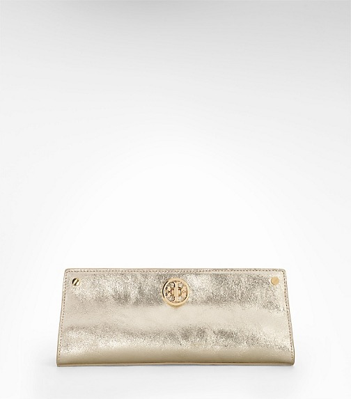 MIRROR CRINKLE DECO RIVET CLUTCH