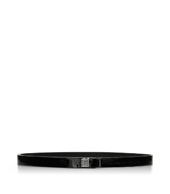 Tory Burch Patent Leather Bow Belt