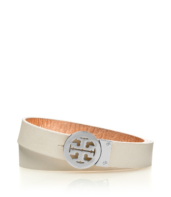 "Tory Burch 1"" Rotating Logo Belt"