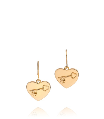 Gold Tory Burch Louise Charm Earring
