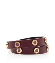 Tory Burch Cole Enamel Double Wrap Bracelet