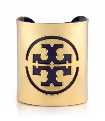 Blazer Blue Tory Burch Patent Leather Stencil Logo Cuff